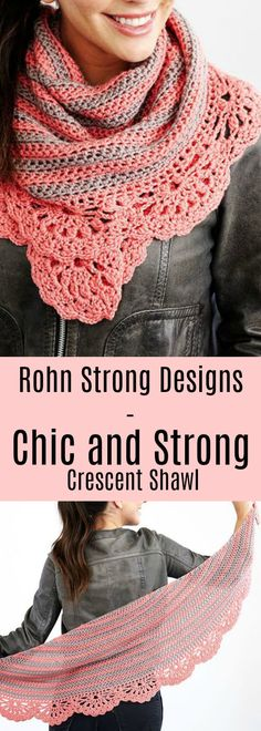 Crochet the Chic and Strong Crescent Shawl featuring Marly Bird's Chic Sheep Yarn!