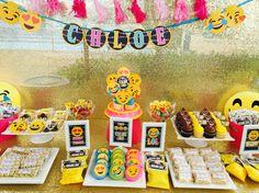 Sweet treats/candy buffet for Chloe's omg emoji party