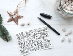 Frohe Weihnachten 2015 | waseigenes.com start Diy Blog, Crochet Earrings, Christmas Cards, Hair Accessories, Deco, Celebrations, Basteln, Christmas E Cards, Xmas Cards