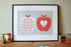 A Scandi Apple a Day  A3 print by HelloOliveDesigns on Etsy, £18.00