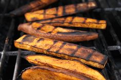 spiced sweet potato on the grill - on the grill
