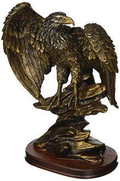 Bird Statue Home Decor Bronze Paint Eagle Collect Decoration sculpture polyresin #StealStreet