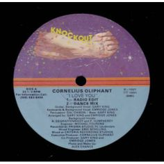 FUNKY - SOUL -RARE GROOVE - DISCO -  RAP -JAZZ -REGGAE: Cornelius Oliphant I Love You