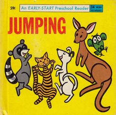 vintage children's book Jumping, 1965