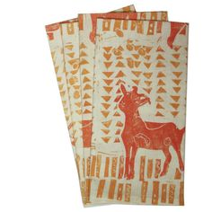 Organic Goat Napkins in Marigold & Carrot by Patch Design Studio. American Made. See the designer's work at the 2016 American Made Show, Washington DC. January 15-17, 2016. americanmadeshow.com #americanmadeshow, #americanmade, #napkins, #goat
