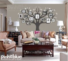 Family Tree Wall Decal  Picture Frame Tree