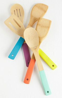Colorful Bamboo Serving Utensils