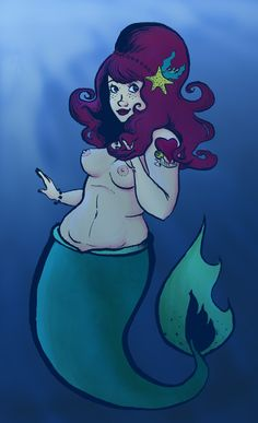 A Chubby Mermaid by Orsum.deviantart.com on @deviantART