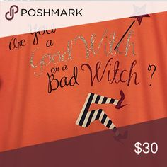 Halloween Shirt Halloween Shirt made with durable heat transfer vinyl. Crafted in a smoke free, allergy free, home. Tops Tees - Short Sleeve