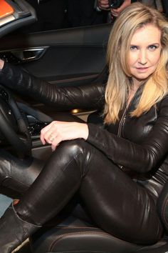 all leather Leather Catsuit, Leather Jumpsuit, Jaguar, Leather Boots, Black Leather, Crazy Women, Tights Outfit, Confident Woman, Tight Leggings
