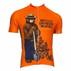 942898ca1 Retro Smokey Bear Prevent Wildfires Cycling Jersey  cyclingclothingroad  Cycling Wear