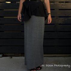 Extra-Long DIY Maxi Skirt
