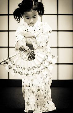 Little girl in kimono--Kyoto, Japan