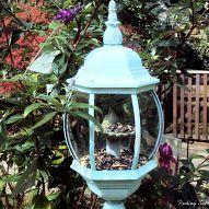 Re-purpose an Old Light Fixture into a bird feeder