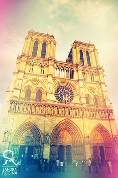 My shabby chic Paris vintage style photo Notre Dame by behindmyblueeyes, $29.00