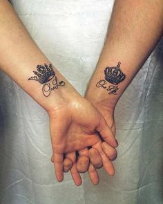 Couple Crown Tattoos with Quotes