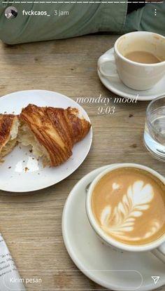 Latte Art, Croissants, Aesthetic Food, Food Cravings, The Best, Yummy Food, Story Ideas, Gta, Breakfast