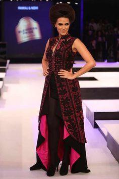 Neha Dhupia in Pankaj and Nidhi's Collection #Bollywood #Fashion