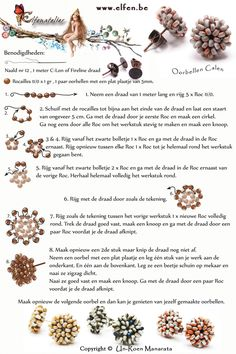 Free Stud Earrings Beading Pattern