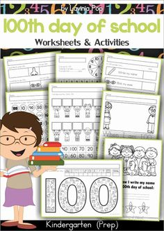 Day of School Worksheets and Activities No PrepThe contents of this packet can be used in the classroom with the whole class, in centers or with small groups, as early finisher work or as homework.The worksheets and activities included in this unit School Worksheets, School Resources, Tracing Worksheets, Teaching Resources, 100 Days Of School Centers, 100 Day Celebration, Kindergarten Prep, Reading Comprehension Worksheets, Thematic Units
