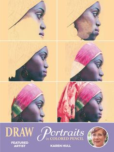 Colored Pencil Lessons, Colored Pencil Portrait, Color Pencil Art, Colored Pencils, Pencil Drawing Tutorials, Pastel Portraits, African Children, Face Sketch, Drawing Skills