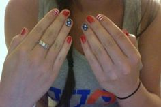 American flag / patriotic inspired nails! They barely chipped at Stagecoach! these will be perfect for the 4th of July