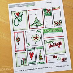 Christmas Gift Tags by Jen Goode