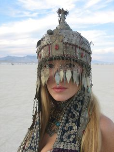 Best Hat/Face Covering/Design at this year's Burning Man #design #imagery