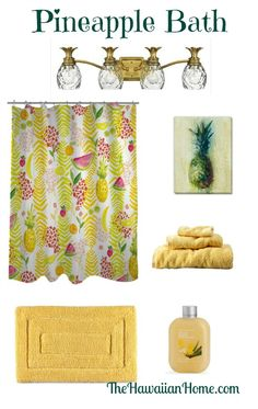 pineapple bathroom design #pineapple #hawaii #homedecor