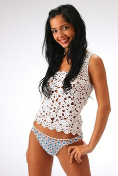 Handmade crocheted lace richly decorated