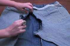 turning pants into a skirt