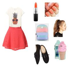 """""""Veranoo ven yaa plsss 🤘🏻"""" by tankmeiso ❤ liked on Polyvore featuring MAC Cosmetics, Wet Seal, Kate Spade, Vans, ASOS and LE3NO"""