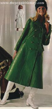 Wet Look Fit n Flare Coat 1970  Had a red one just like this!!