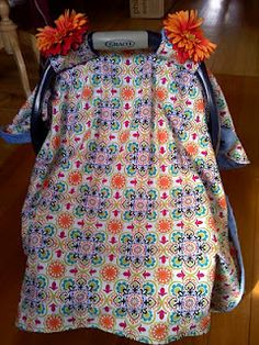 Sew Fantastic: Baby Car Seat Cover tutorial