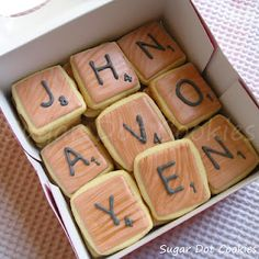 scrabble tile cookies WOW!!! love them