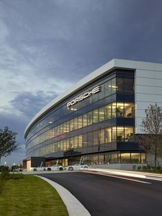 Architecture of Porsche North America Experience Center and Headquarters Office