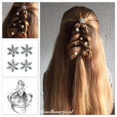 Christmas tree hairstyle with different beautiful curlies from Goudhaartje.nl