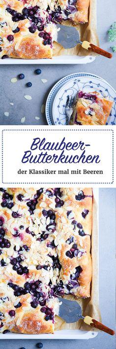 Blaubeer Butterkuchen Rezept - Hefeteig Blechkuchen Zuckerzimtundliebe.de blueberry buttercake sheetcake recipe