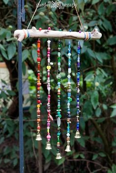 Use Your Odd Beads to Make a Garden Chime or Suncatcher (The Beading Gem's…