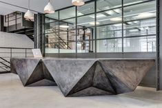 concrete reception desk - Google Search