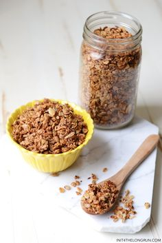 Extra Crunchy Super Seed Granola from init4thelongrun.com