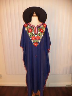 SOLD Embroidered Floral Caftan