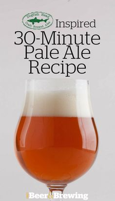 The constant hopping techniques used in Dogfish Head 60 and 90 Minute IPAs inspired this pale ale. Brewing Recipes, Homebrew Recipes, Beer Recipes, Punch Recipes, Coffee Recipes, Home Brewery, Home Brewing Beer, Ginger Ale Drinks, Bourbon Drinks