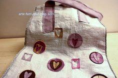 borsa con sacchi del mangime ed eco-pelle - arte-fatti