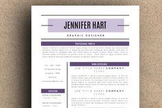 The Jennifer Resume Pack by LeResume on Creative Market