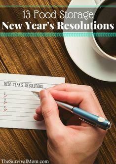 food storage resolutions