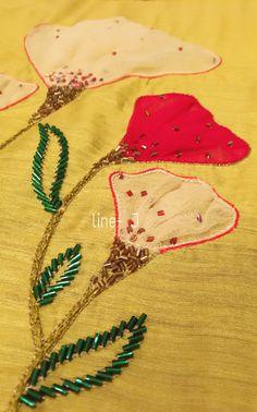 Zardozi Embroidery, Embroidery On Kurtis, Hand Embroidery Dress, Kurti Embroidery Design, Bead Embroidery Patterns, Couture Embroidery, Bead Embroidery Jewelry, Embroidery Fashion, Fabric Jewelry