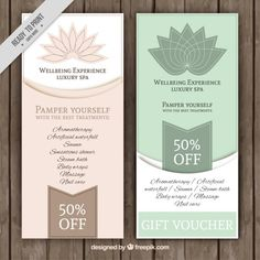 Floral spa offer banners Free Vector