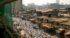 Dharavi slum Mumbai 1.7 KM2 with 600,000-1M people = 3m2 per person http://www.mumbailocal.net/wp-content/uploads/2011/01/Dharavi-Slum-Mumbai-3.jpg