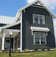 Exterior Paint Colors - You want a fresh new look for exterior of your home? Get inspired for your next exterior painting project with our color gallery. All About Best Home Exterior Paint Color Ideas House Siding, House Paint Exterior, Exterior Siding, House Roof, Hardie Board Siding, Siding Colors, Exterior Paint Colors, Exterior House Colors, Metal Roof Colors